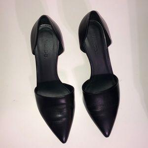 "Vince ""Aurelian"" black leather heel 7.5"